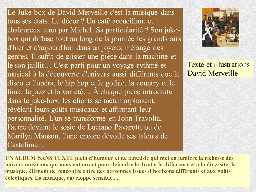 Texte et illustrations David Merveille