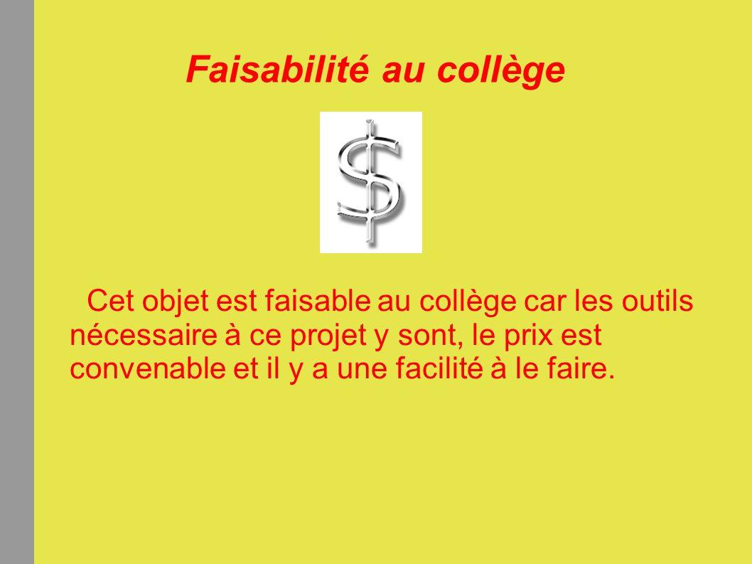 Faisabilité au collège