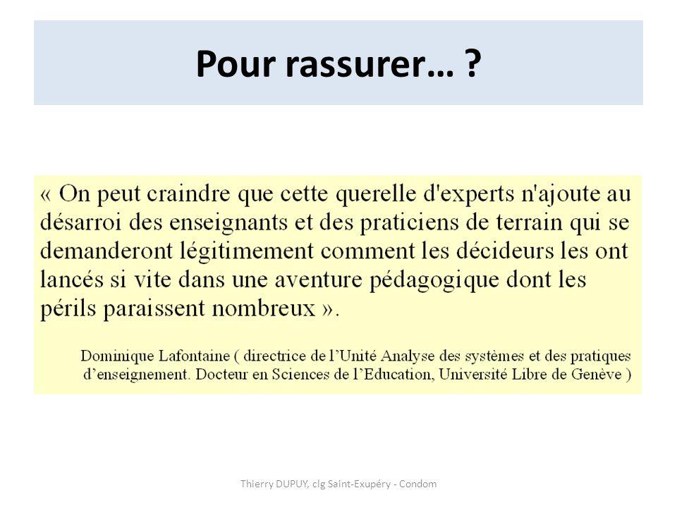Thierry DUPUY, clg Saint-Exupéry - Condom
