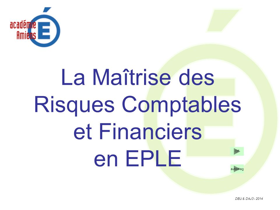 La Maîtrise des Risques Comptables et Financiers en EPLE