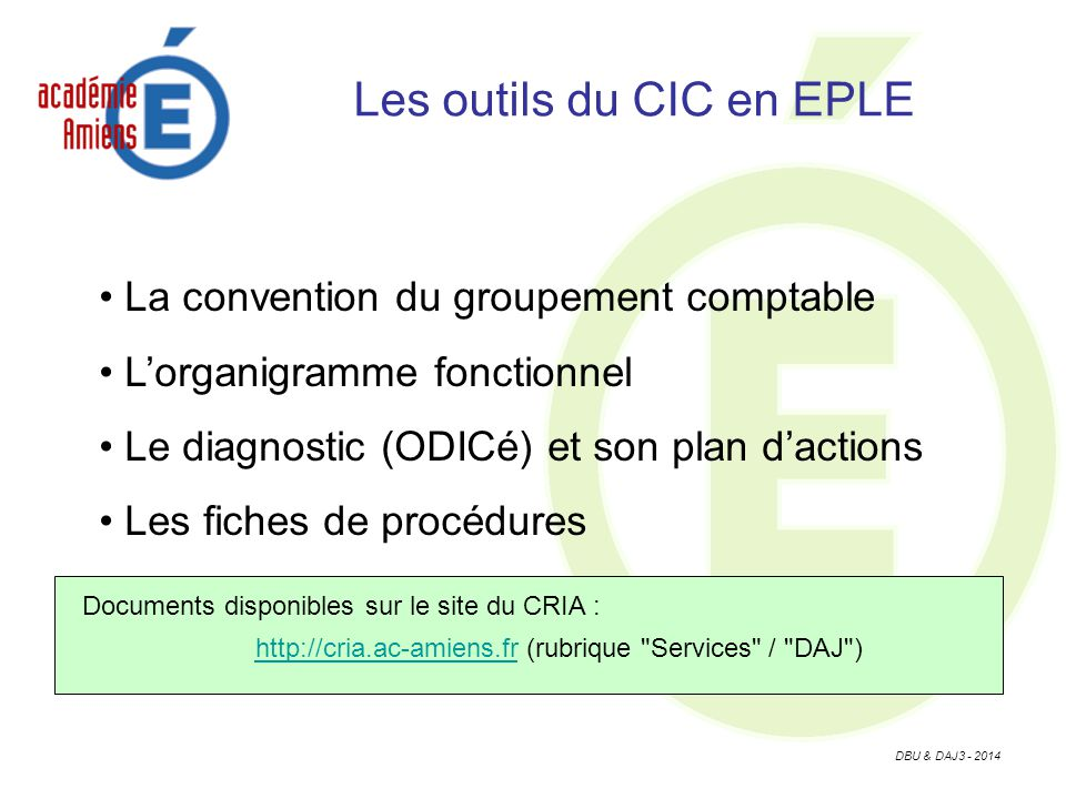 Les outils du CIC en EPLE