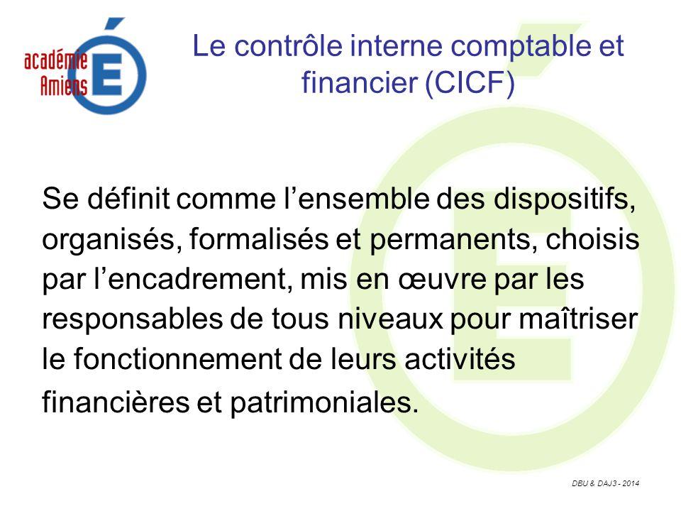 Le contrôle interne comptable et financier (CICF)