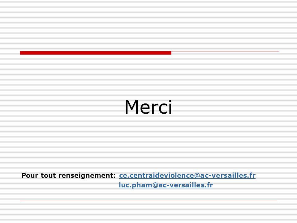 Merci Pour tout renseignement: ce.centraideviolence@ac-versailles.fr