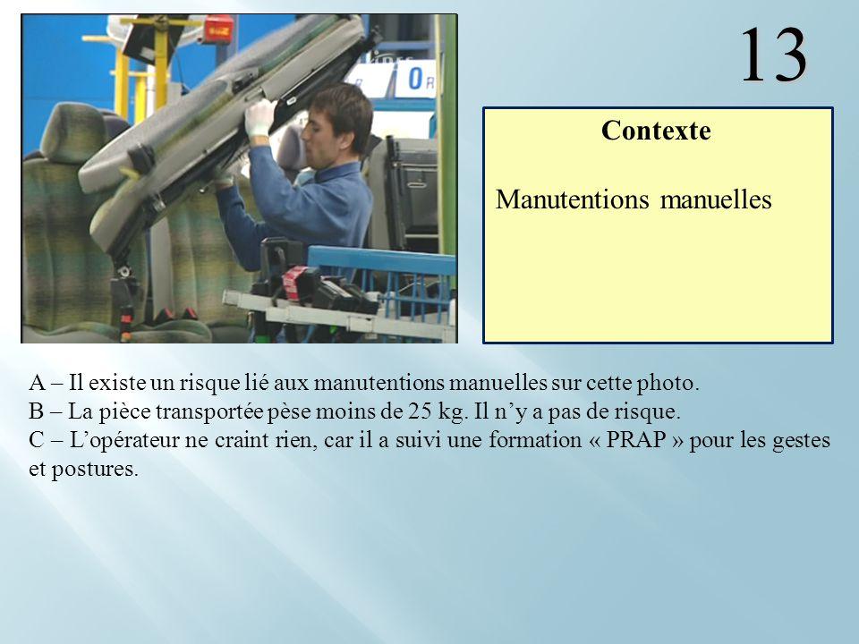 13 Contexte Manutentions manuelles