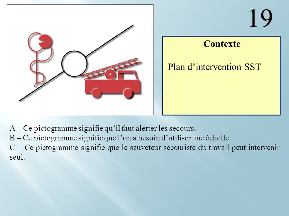 19 Contexte Plan d'intervention SST