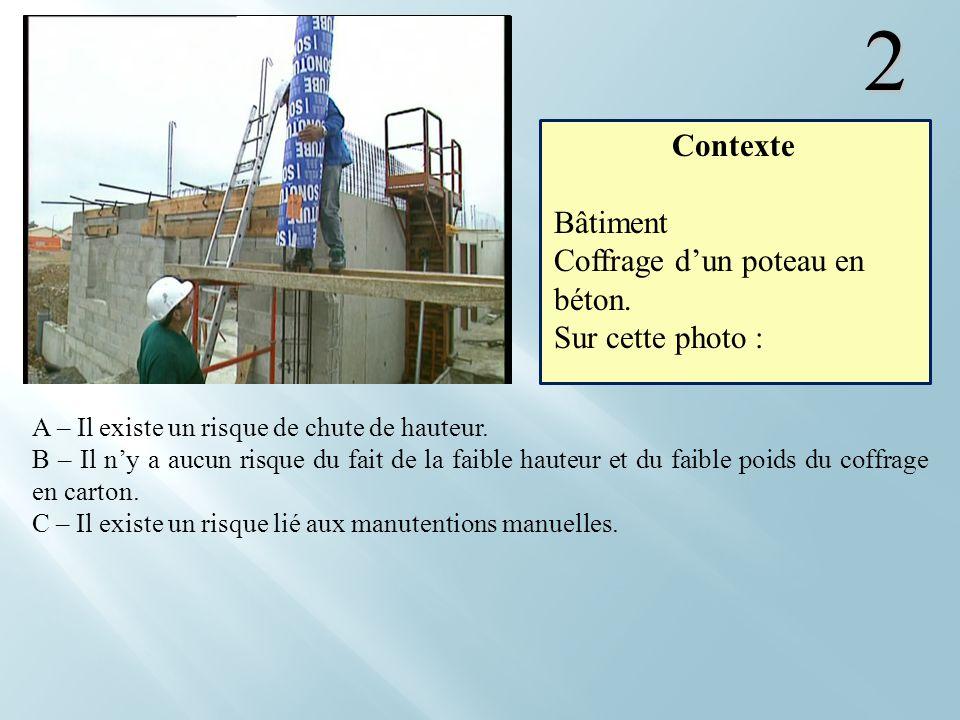 2 Contexte Bâtiment Coffrage d'un poteau en béton. Sur cette photo :
