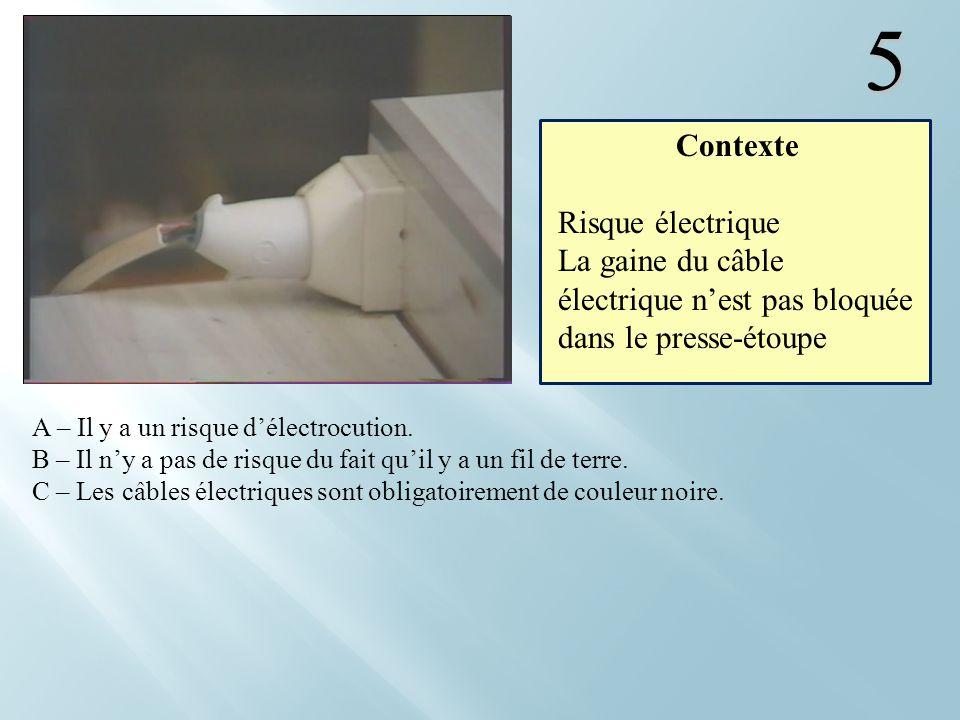 5 Contexte Risque électrique