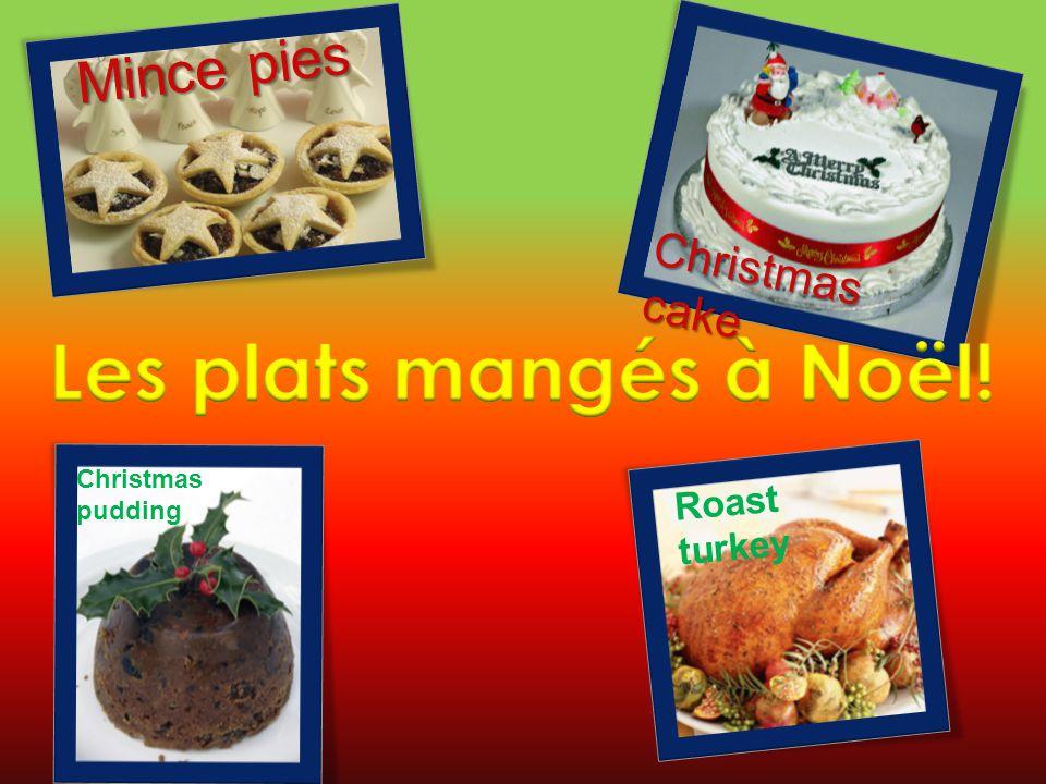 Les plats mangés à Noël! Mince pies Christmas cake Roast turkey
