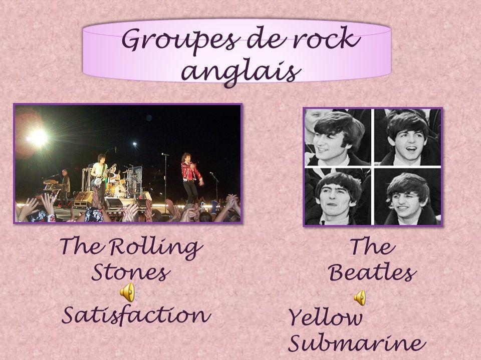 Groupes de rock anglais