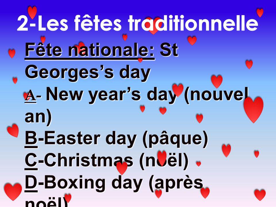 2-Les fêtes traditionnelle
