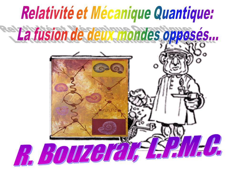 R. Bouzerar, L.P.M.C. Relativité et Mécanique Quantique:
