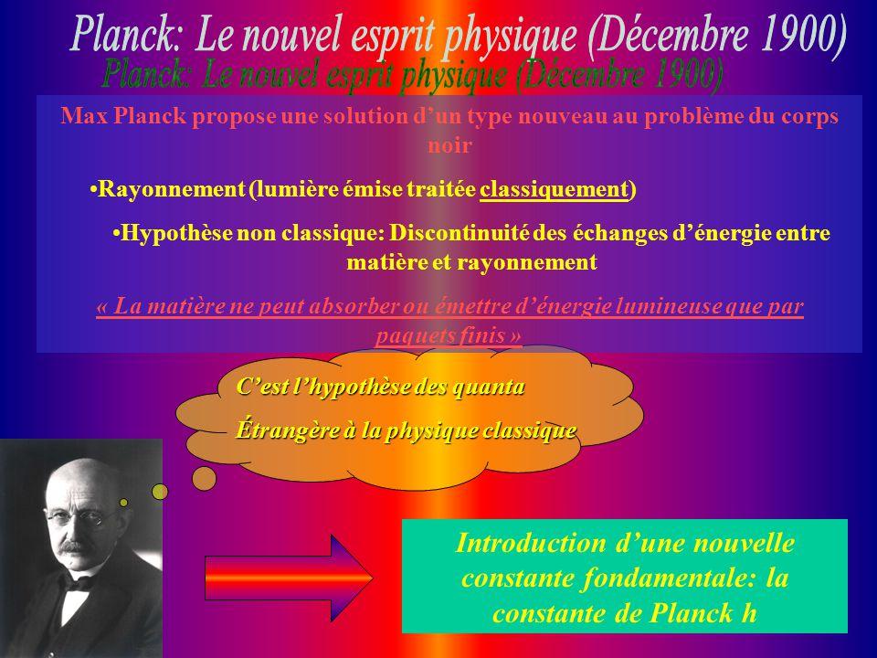 Planck: Le nouvel esprit physique (Décembre 1900)