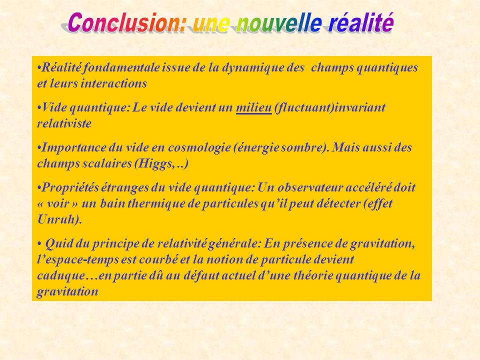 Conclusion: une nouvelle réalité