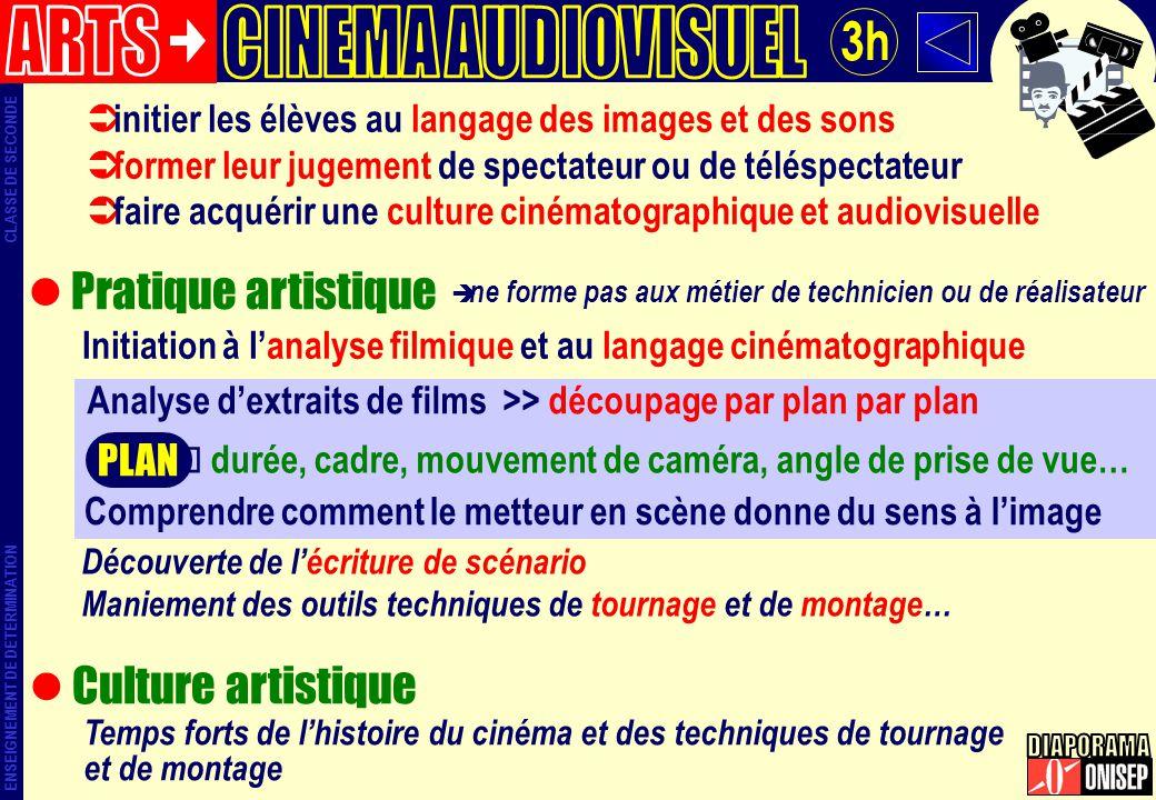 ARTS CINEMA AUDIOVISUEL 3h DIAPORAMA Pratique artistique