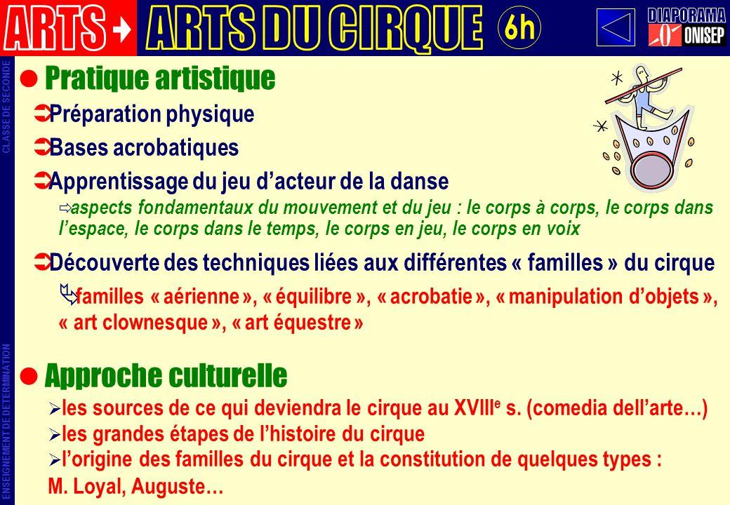 ARTS ARTS DU CIRQUE DIAPORAMA 6h Pratique artistique