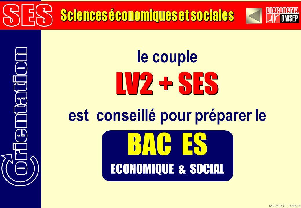 Sciences économiques et sociales est conseillé pour préparer le