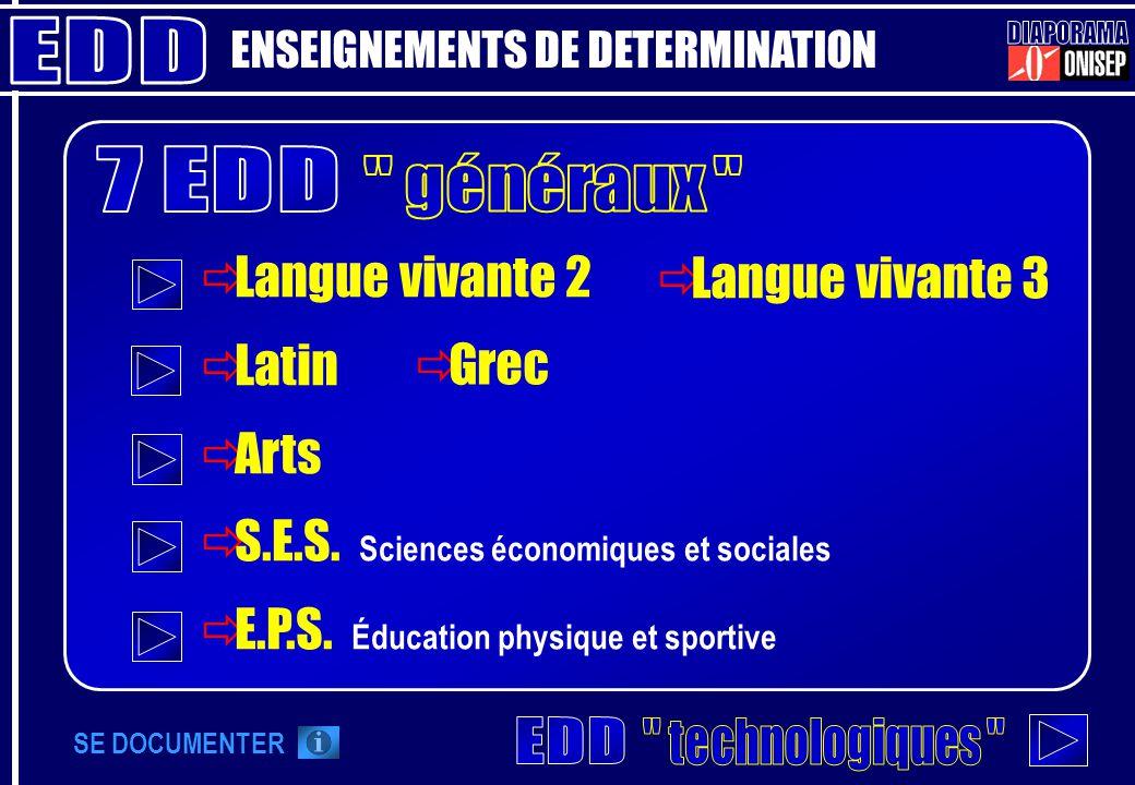 EDD DIAPORAMA 7 EDD généraux EDD technologiques