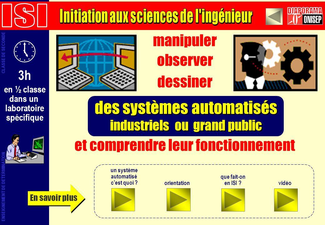 Initiation aux sciences de l ingénieur