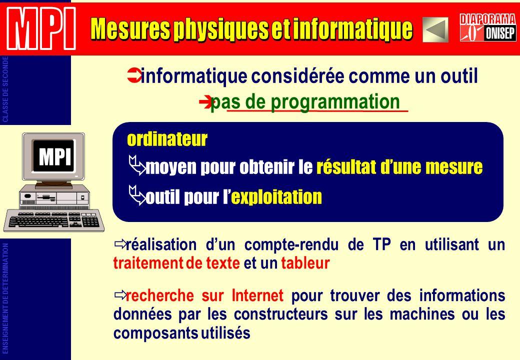 Mesures physiques et informatique