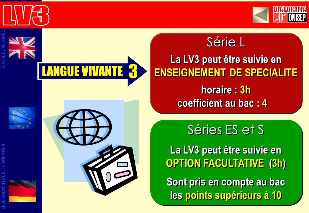 3 LV3 DIAPORAMA Série L LANGUE VIVANTE Séries ES et S