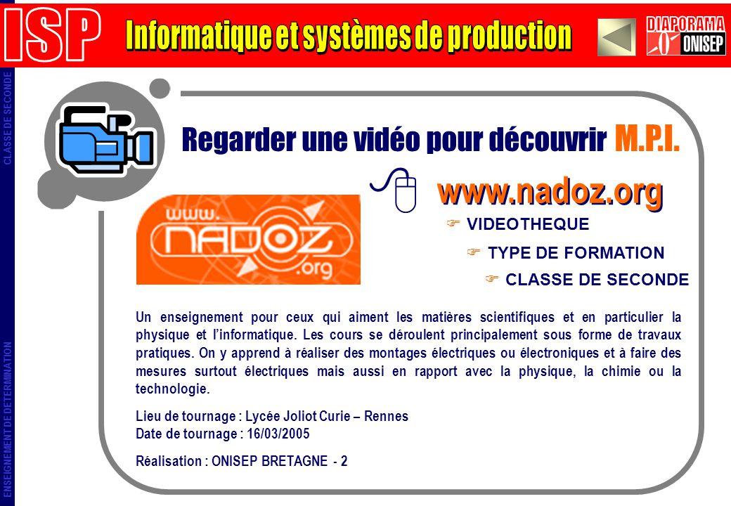 Informatique et systèmes de production