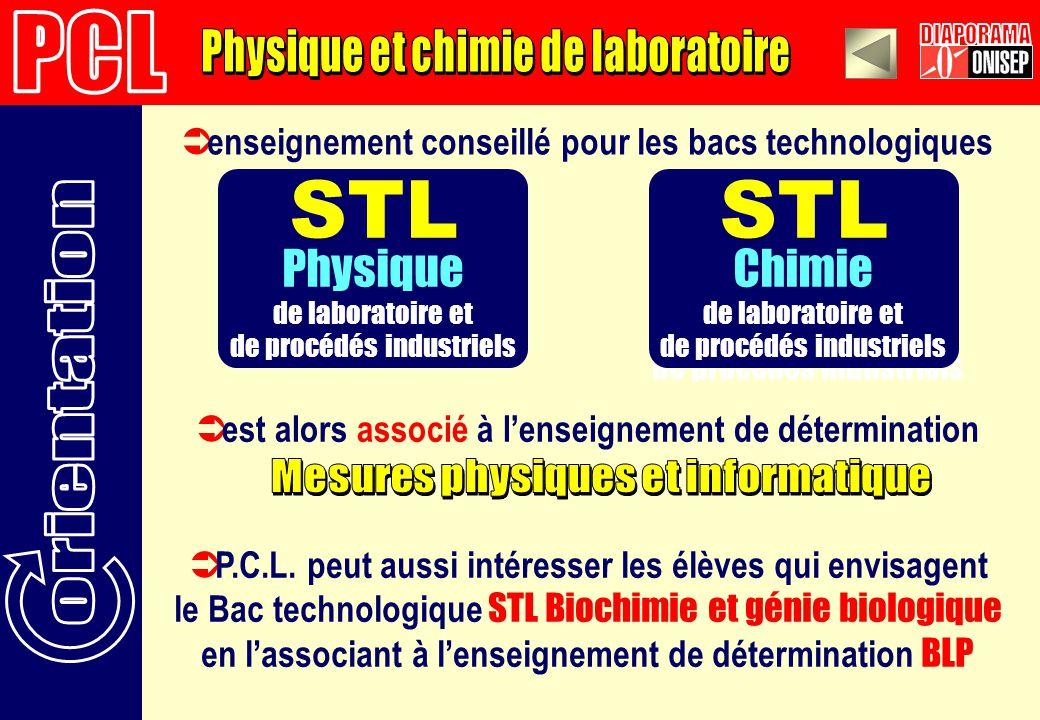 STL STL STL Chimie PCL Physique et chimie de laboratoire DIAPORAMA