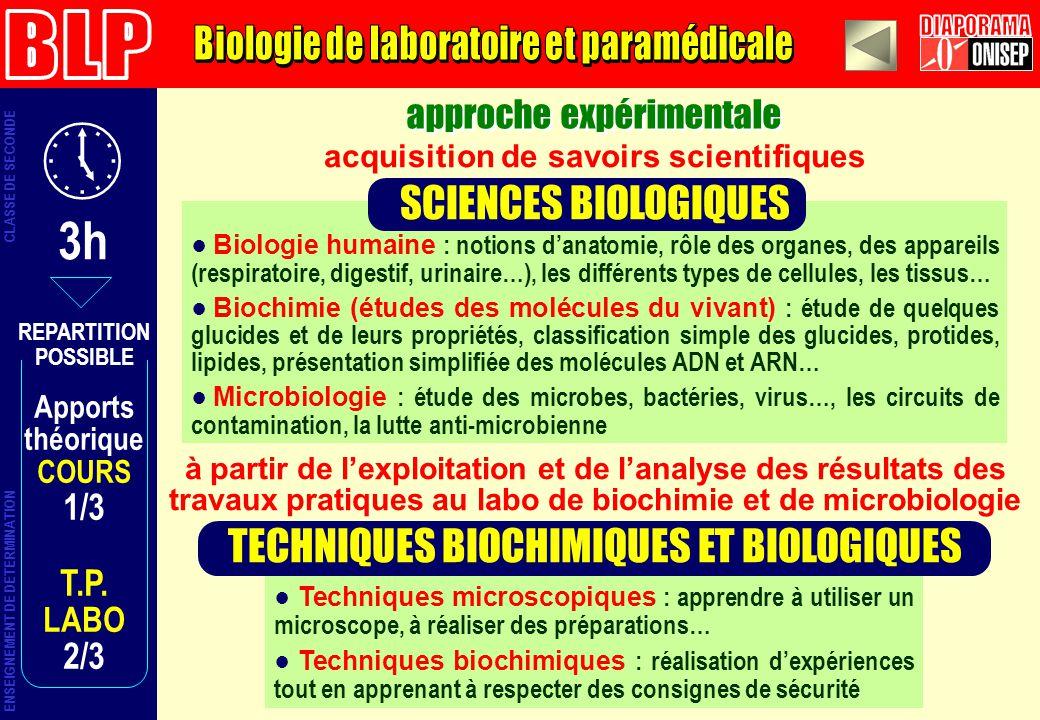 3h BLP DIAPORAMA Biologie de laboratoire et paramédicale