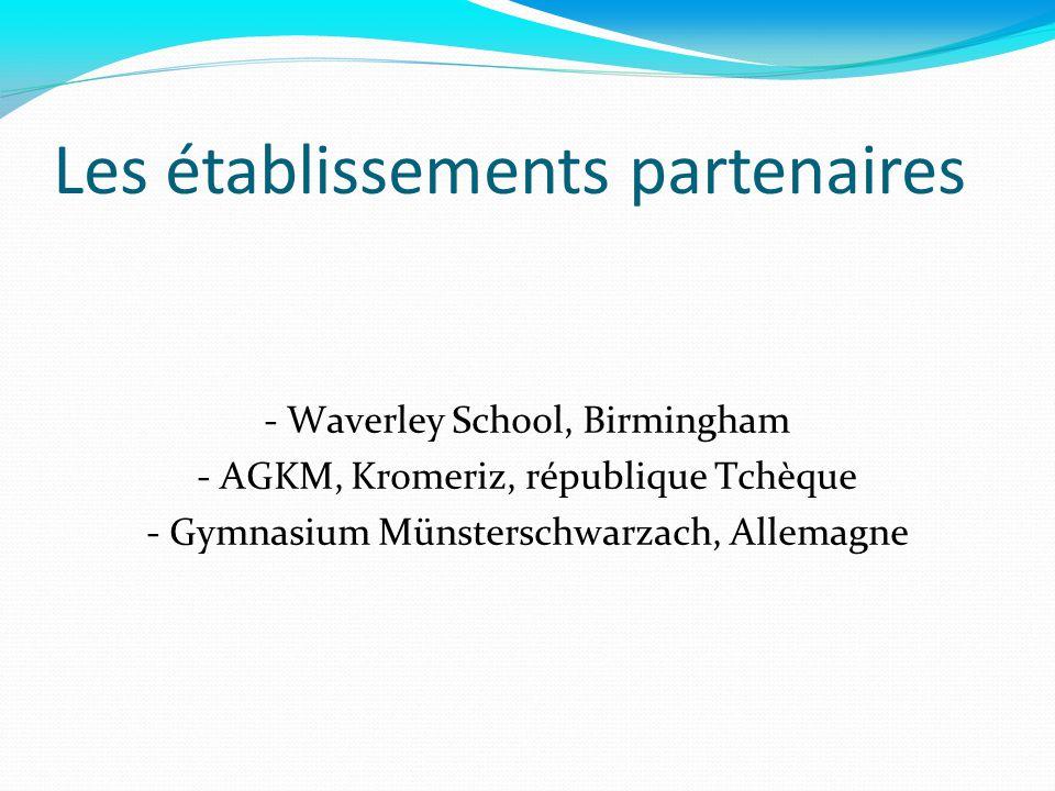Les établissements partenaires