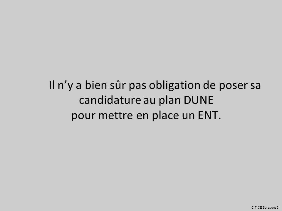 Il n'y a bien sûr pas obligation de poser sa candidature au plan DUNE pour mettre en place un ENT.