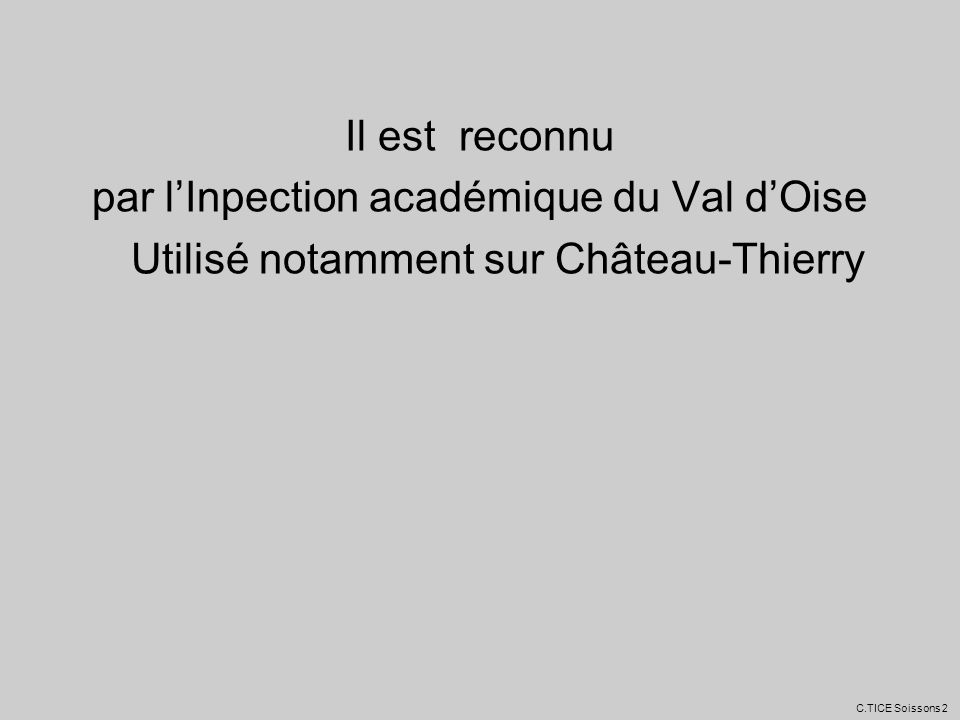 par l'Inpection académique du Val d'Oise
