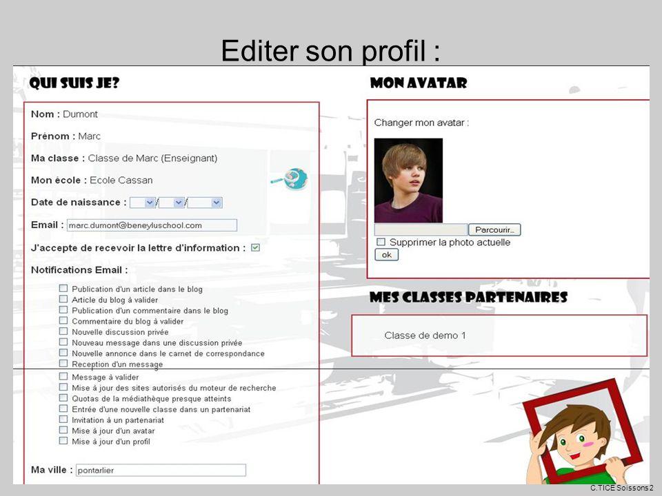 Editer son profil : C.TICE Soissons 2