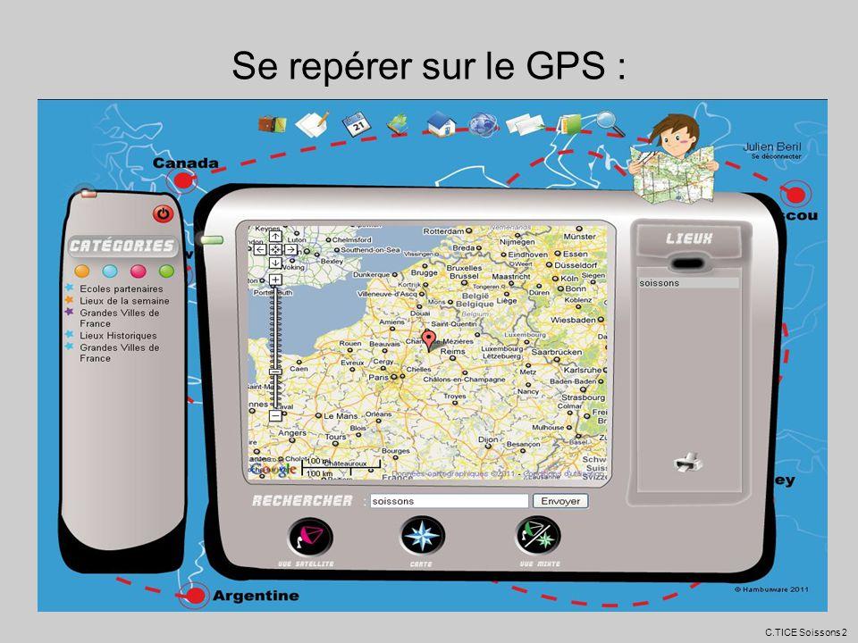 Se repérer sur le GPS : C.TICE Soissons 2