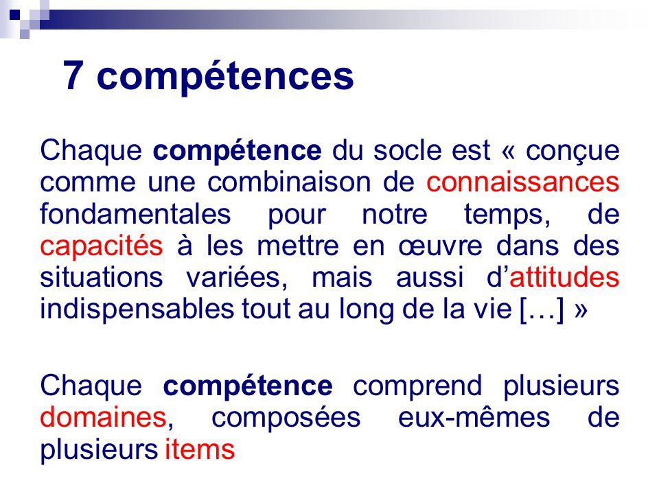 7 compétences