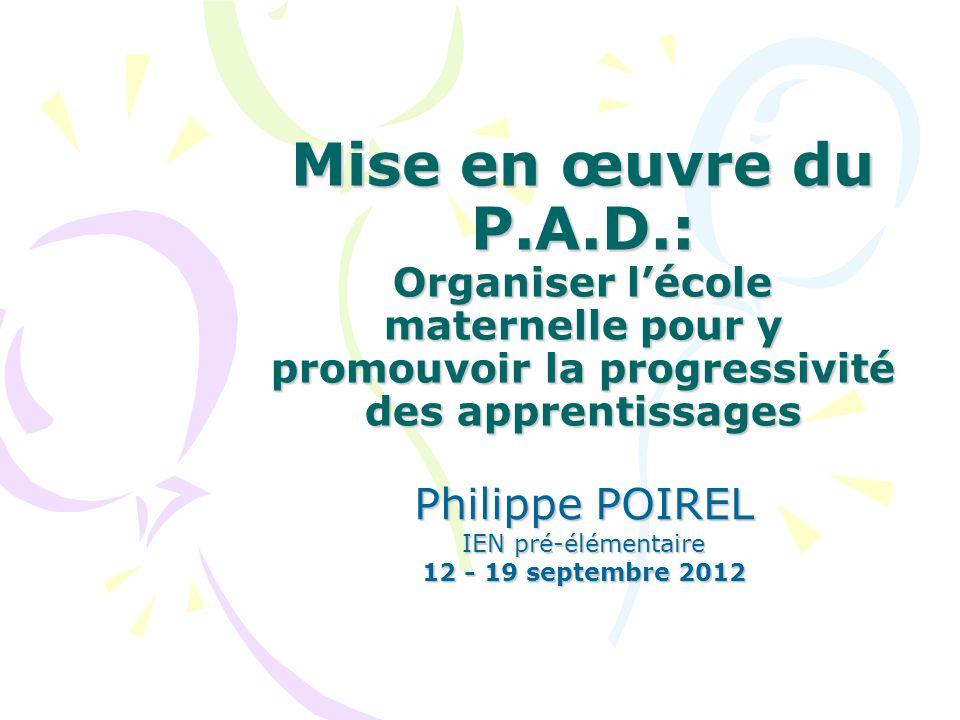 Philippe POIREL IEN pré-élémentaire 12 - 19 septembre 2012