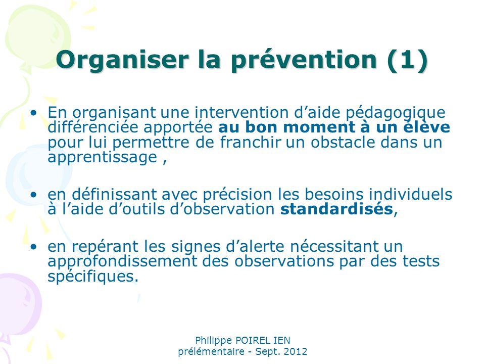 Organiser la prévention (1)