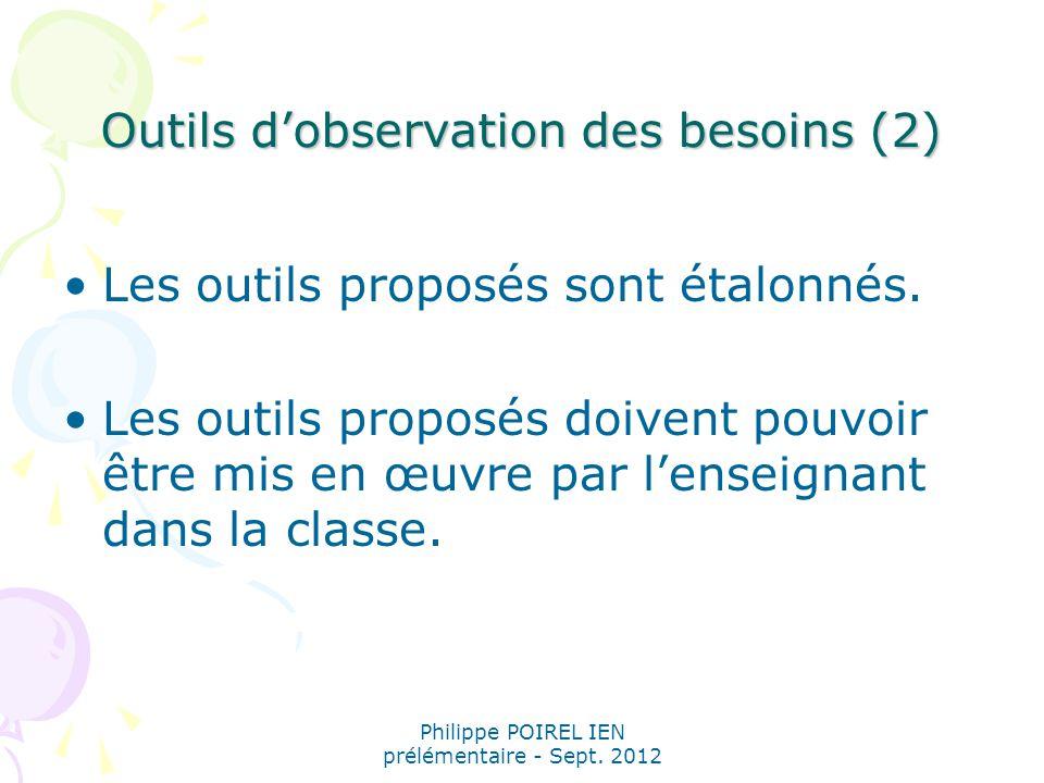 Outils d'observation des besoins (2)