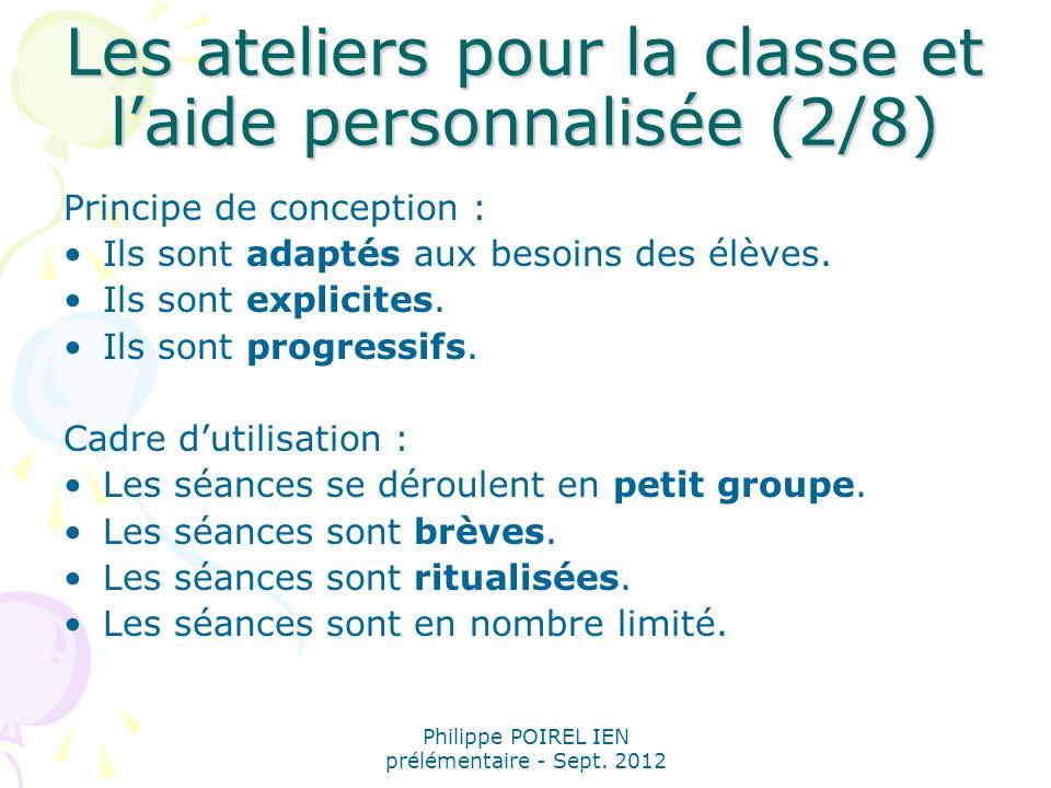 Les ateliers pour la classe et l'aide personnalisée (2/8)