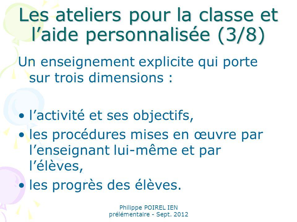 Les ateliers pour la classe et l'aide personnalisée (3/8)