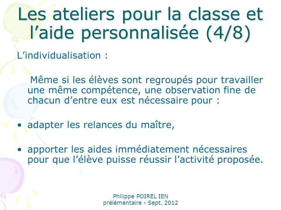 Les ateliers pour la classe et l'aide personnalisée (4/8)