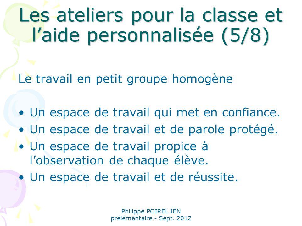 Les ateliers pour la classe et l'aide personnalisée (5/8)