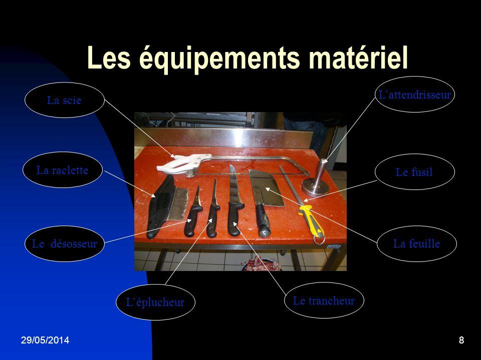 Les équipements matériel