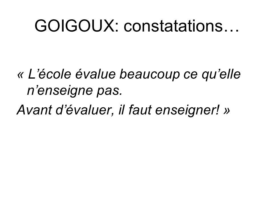 GOIGOUX: constatations…