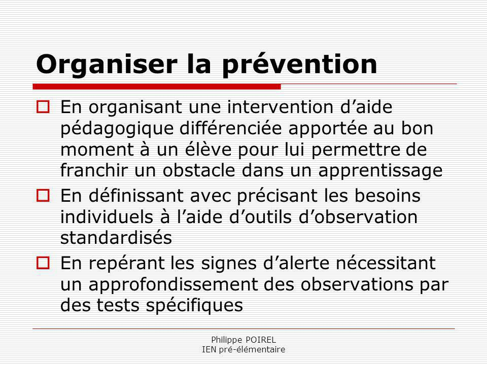 Organiser la prévention