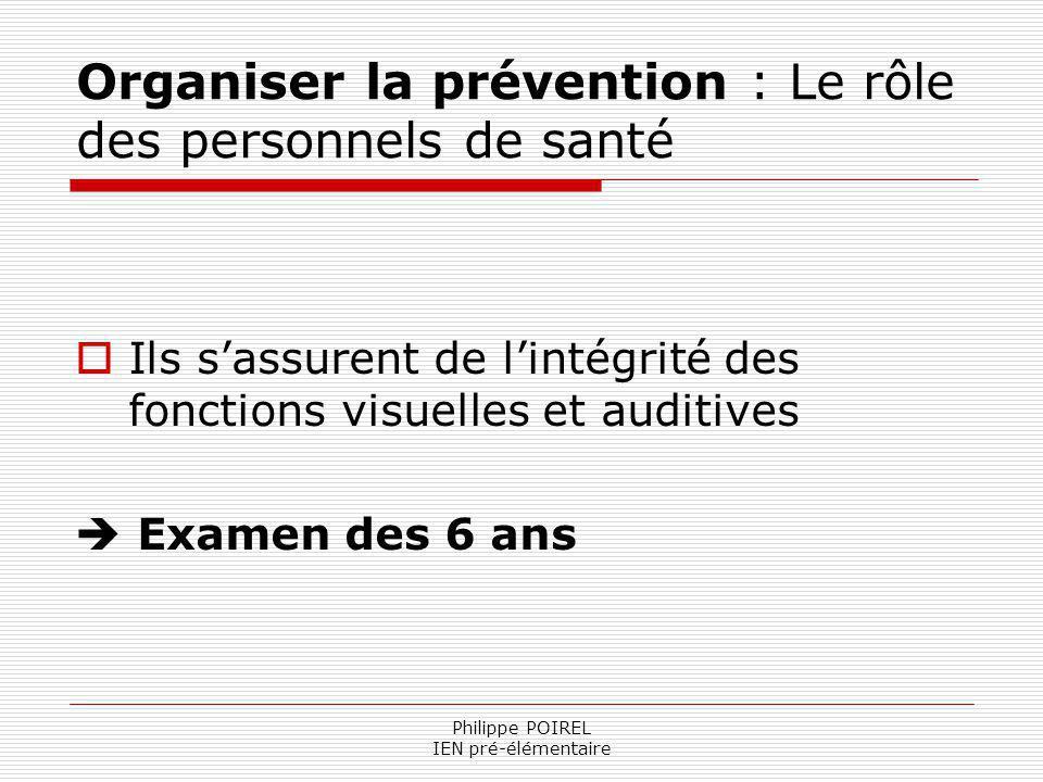 Organiser la prévention : Le rôle des personnels de santé