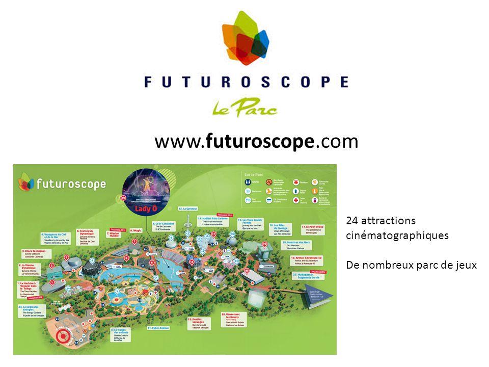 www.futuroscope.com 24 attractions cinématographiques