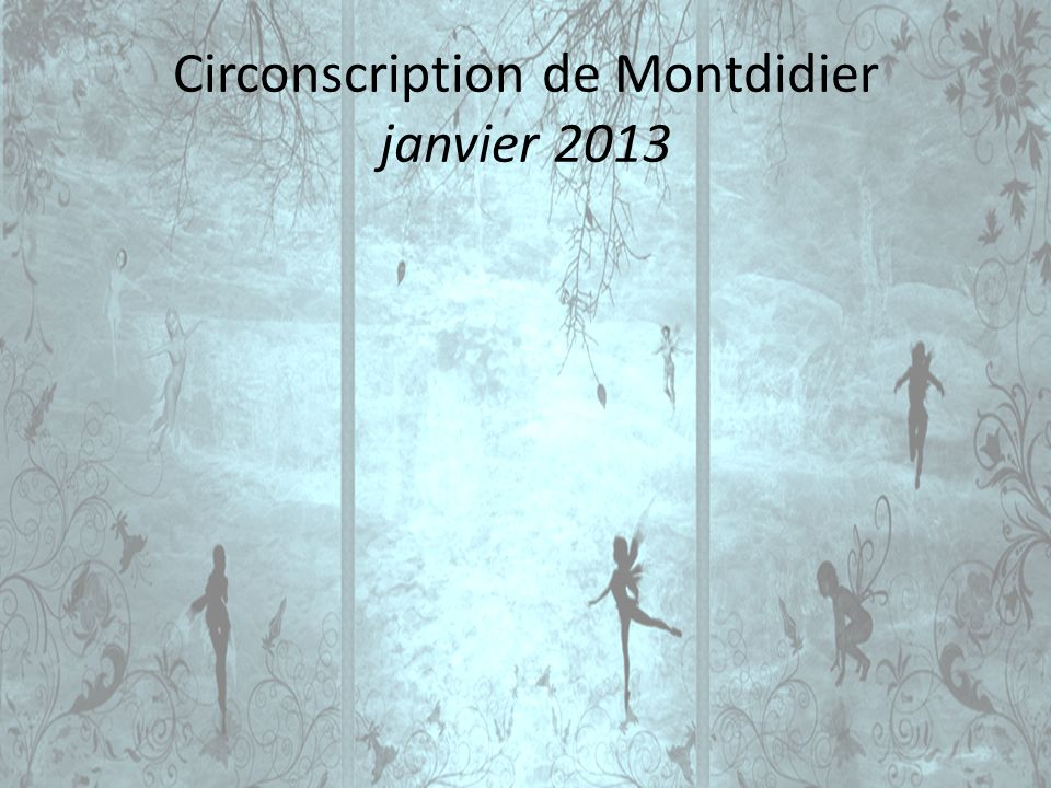 Circonscription de Montdidier janvier 2013