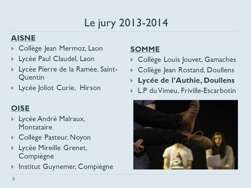 Le jury 2013-2014 AISNE Collège Jean Mermoz, Laon