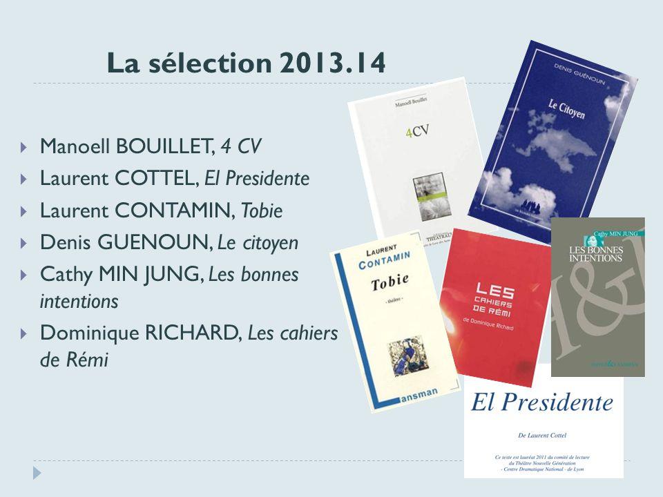 La sélection 2013.14 Manoell BOUILLET, 4 CV