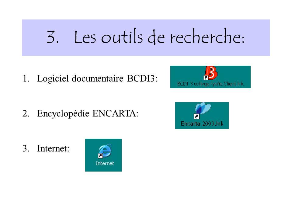 Les outils de recherche: