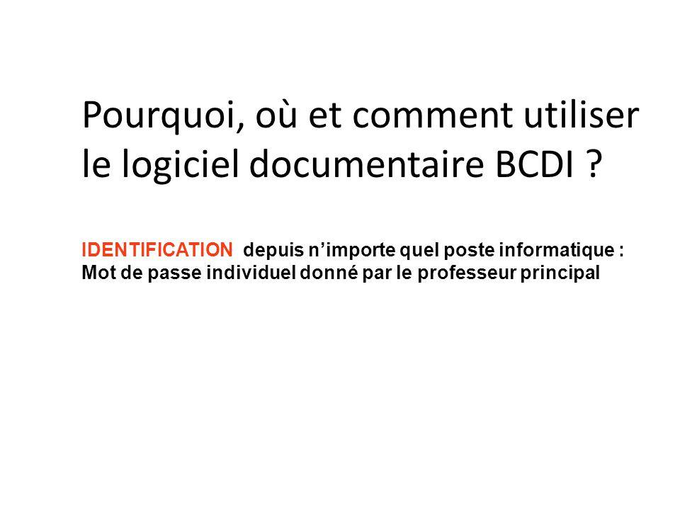 Pourquoi, où et comment utiliser le logiciel documentaire BCDI